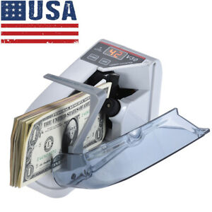 Mini Handy Bill Cash Banknote Counter Money Currency Counting Machine 6v H9f8