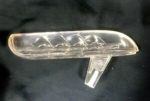 1946 48 Plymouth Hood Ornament Plastic Clear
