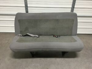 1999 2007 Ford Econoline Van Bench 3rd Third Row Seat 3 Person Gray Cloth
