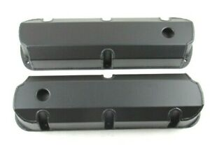 Sbf Ford 289 351 Fabricated Alum Tall Valve Cover Set Black Coated Bpe 2323bc