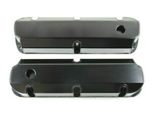 Sbf Ford 289 351 Fabricated Alum Tall Valve Cover Set Black Anodize Bpe 2323ba