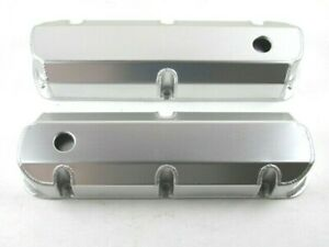 Sbf Ford 289 351 Fabricated Alum Tall Valve Cover Set Clear Anodized Bpe 2323ca
