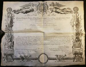 King Charles X Decoration Act Signed By King On Both Sides On December 27 1814