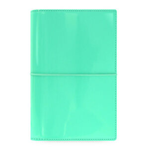 Filofax Personal Size Domino Patent Organiser Planner Diary Turquoise 022514 b9