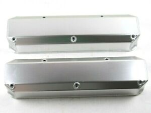 Mopar 340 360 Fabricated Aluminum Valve Covers No Hole Clr Ano Bpe 2352ca