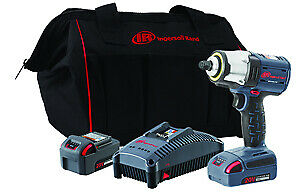 Ingersoll Rand W5133 k22 3 8 Iqv 20v Cordless Impact Wrench Two Battery Kit New