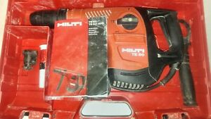 Hilti Te50 Combihammer Rotary Hammer Drill W Hard Case_great Condition