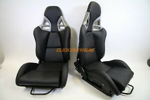 Gt 997 Style Pu Leather Recline Racing Seat Frp Back Single Seat