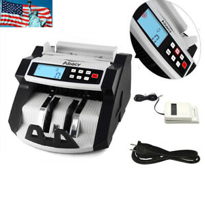 Money Cash Automatic Counter Bank Machine Currency Counting Uv mg Counterfeit