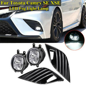 Led Bumper Fog Lights W Switch Harness For 2018 2019 Toyota Camry Hybrid Se Xse
