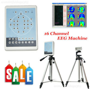 16 Channel Eeg Digital Brain Electric Activity Mapping Pc Auto analysis Bracket
