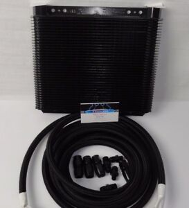 Automatic Transmission Cooler Line Kit 6an Black Braided Hose 4l80e With Cooler