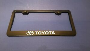 Toyota Tacoma Matte Black Stainless Steel License Plate Frame Truck Car Camry