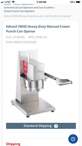New Edlund 700 S s Heavy Duty Crown Punch Can Opener