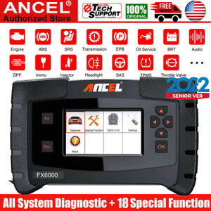 Ancel Fx6000 Ecu Programming All System Srs Oil Tpms Reset Immo Obd2 Scanners Us