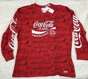 Staple x Coca Cola All Over Print Long Sleeve Tee Size 2XL Mens Red White
