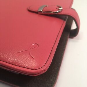 Day timer Pink Ribbon Leather Classic Desk Planner Daytimer Franklin Covey