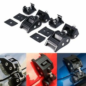 Aluminum Hood Lock Latch Catch Kit Engine Cover Lock For Jeep Wrangler Jk 07 18