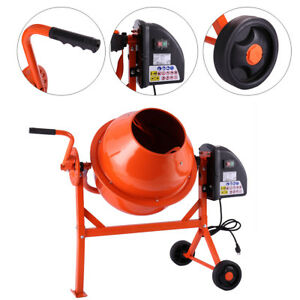 Electric Portable Vertical 2 1 5cuft Concrete Mortar Cement Stucco Mixer