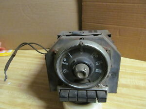Fabulous Vintage 1940 S Fomoco Car Radio Round Front 5be 660225 Look