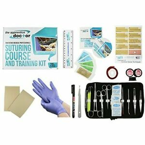 Suture Practice Kit With Suturing How to Guide Designed By Medical Professionals
