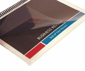 Sircle Binding Covers Plastic Clear Pk100 8 1 2 X 11 Clear Plastic 378323