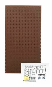 Hardwood Pegboard Panel Kit With 25 Lb Load Capacity 48 h X 24 w Brown 1 Ea