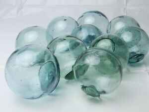 Vintage Japanese Glass Fishing Floats 2 5 Lot Of 3