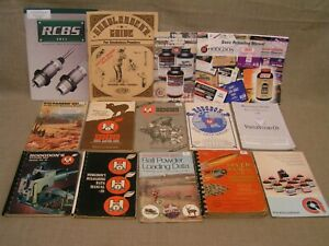 Vintage Ammunition Loading Reloading Data Manual Book Lot - Pistol Rifle Shotgun