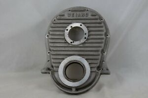 Vintage Weiand Bbc Big Block Chevrolet Finned Aluminum Timing Cover Dragster