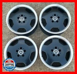 Mercedes Clk55 Amg 2001 2002 Oem Factory Wheel Set 17 Rims 65243 Black S