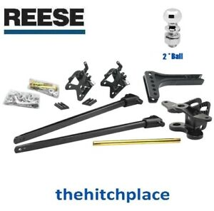 Reese 800 Tw Trunnion Bar Weight Distribution Trailer Hitch W Shank 2 Ball