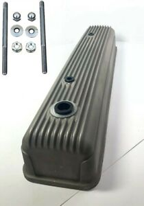 Finned Aluminum Tall Valve Cover For 1954 1962 Chevy 216 235 261 Unpolished