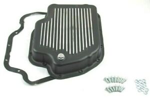 Aluminum Gm Turbo 400 Finned Transmission Pan Black Bpe 7202bk