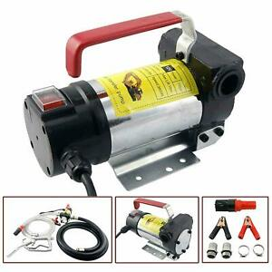 12v Fuel Transfer Pump 10 Gmp W suction Hose And Fuel Pump Nozzle Diesel Fuel