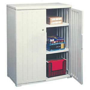 Iceberg Plastic Storage Cabinet Light Gray 36x22x46