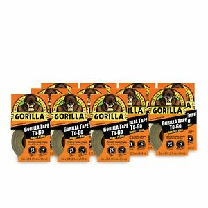Gorilla Tape Mini Duct Tape To go 1 X 10 Yd Travel Size Black pack Of 11