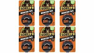 Gorilla 6055001 6 Double sided Heavy Duty Mounting Tape 6 Pack 1 X 60 B