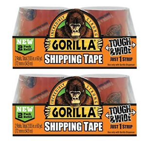 Gorilla Packing Tape Tough Wide Refill 2 83 X 30 Yd 4 Rolls