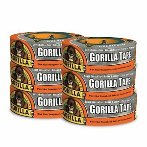Gorilla Tape Silver Duct Tape 1 88 X 35 Yd Silver pack Of 6