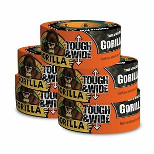Gorilla Tape Black Tough Wide Duct Tape 2 88 X 30 Yd Black pack Of 5