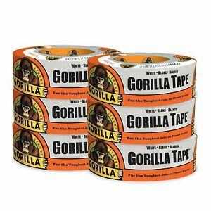 Gorilla Tape White Duct Tape 1 88 X 30 Yd White pack Of 6