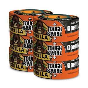 Gorilla Tape Black Tough Wide Duct Tape 2 88 X 30 Yd Black pack Of 6