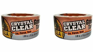 Gorilla Crystal Clear Duct Tape 1 88 X 18 Yd Clear pack Of 2