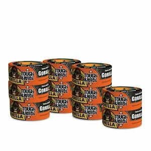 Gorilla Tape Black Tough Wide Duct Tape 2 88 X 30 Yd Black pack Of 11