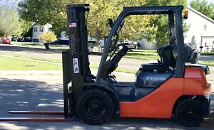 2013 Toyota 8fgu25 5 000 Pneumatic Tire Forklift propane 3 Stage S s Nice
