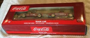 K-Line Coca Cola K691-5105 Flat-car w/ 2 die cast Ford pick up trucks