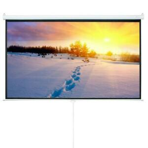 84 In 16 9 Projector Projection Screen Pull Down 1 3 Gain Home Theater Movie