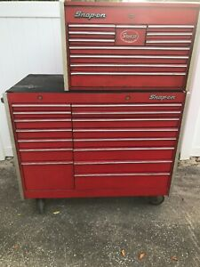 Kr1000 A Kr550 B Snap On Shop Toolbox With 25 2 Top Drawers In Good Condition