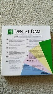 Dental Coltene Hygenic Natural Rubber Latex Dam 6 X 6 Extra Heavy Dark Pk 33